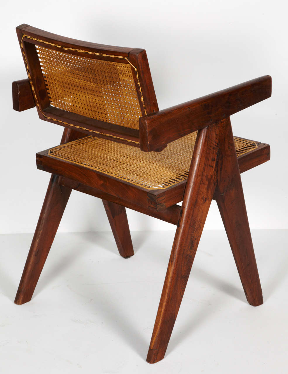 Cane Pierre Jeanneret, Office Chair, circa 1955 For Sale