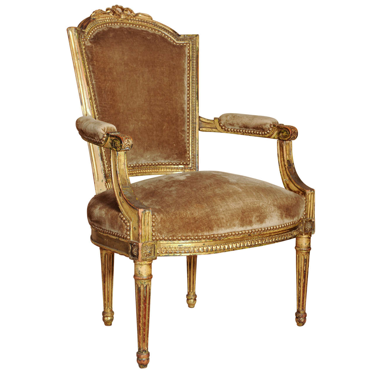 18th Century French Louis Xvi Armchair At 1stdibs