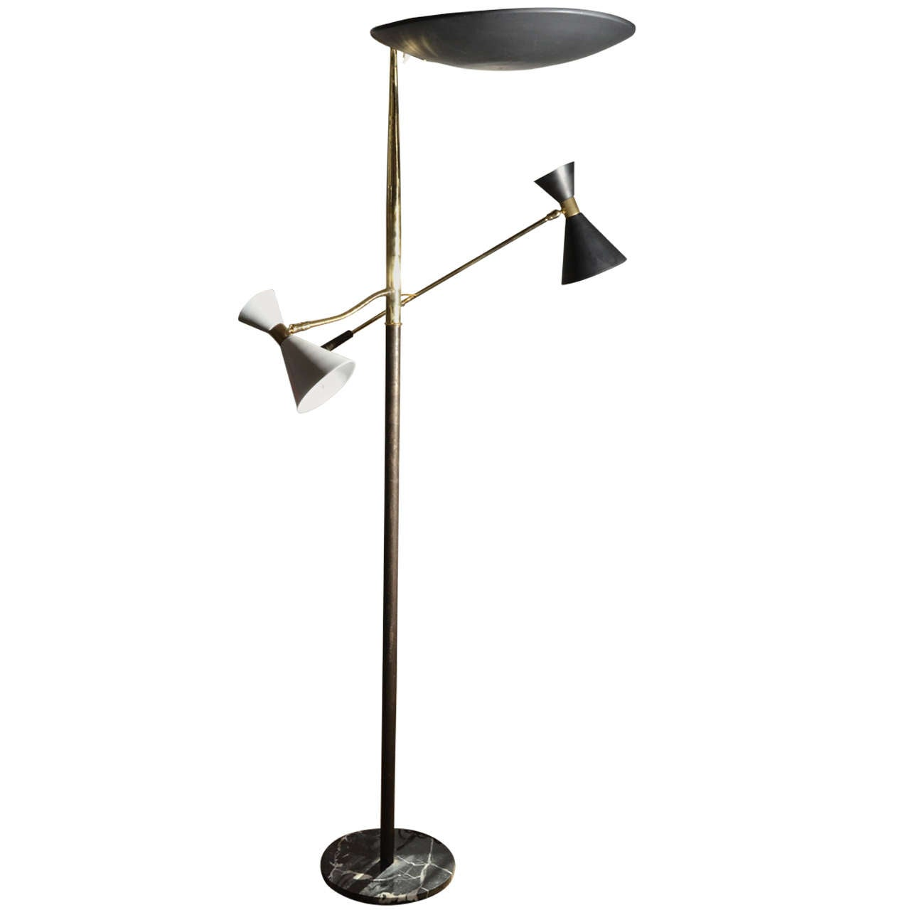 1950 39 s italian stilnovo floor lamp for sale at 1stdibs for 1950 floor lamp