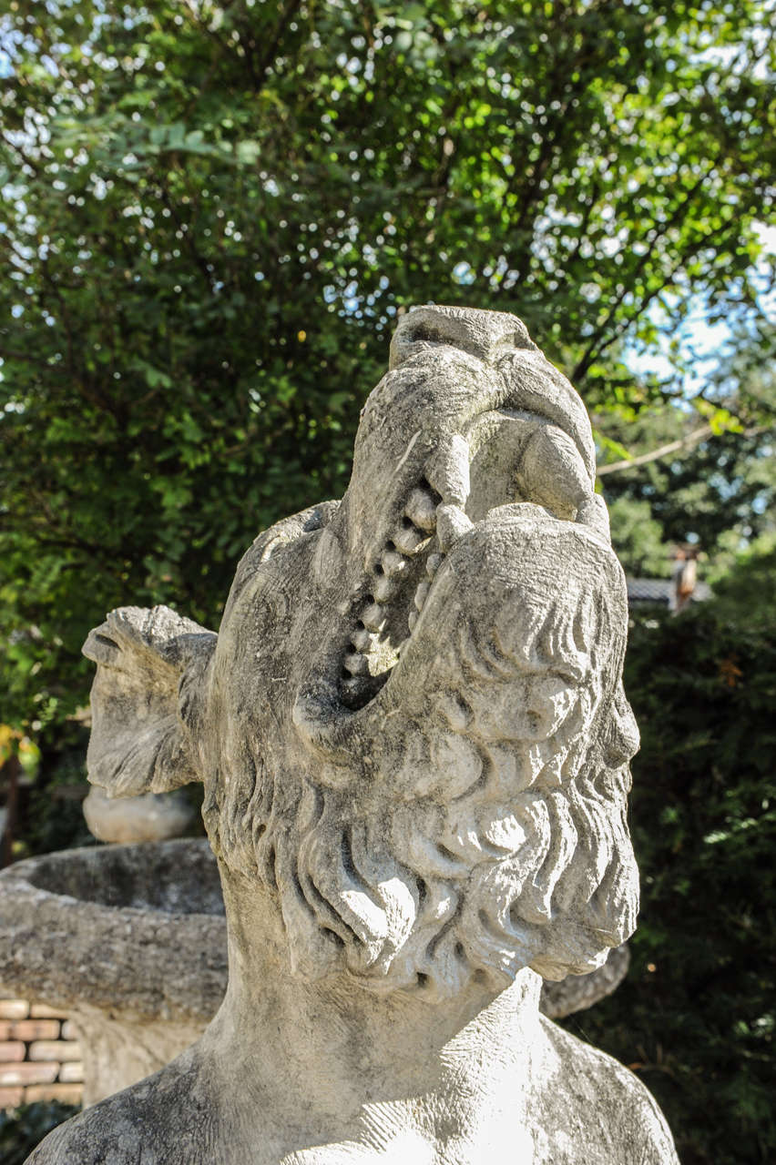 Carved limestone figure of a gryphon at stdibs