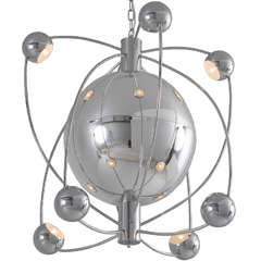 Very Large Atom Shaped Chandelier