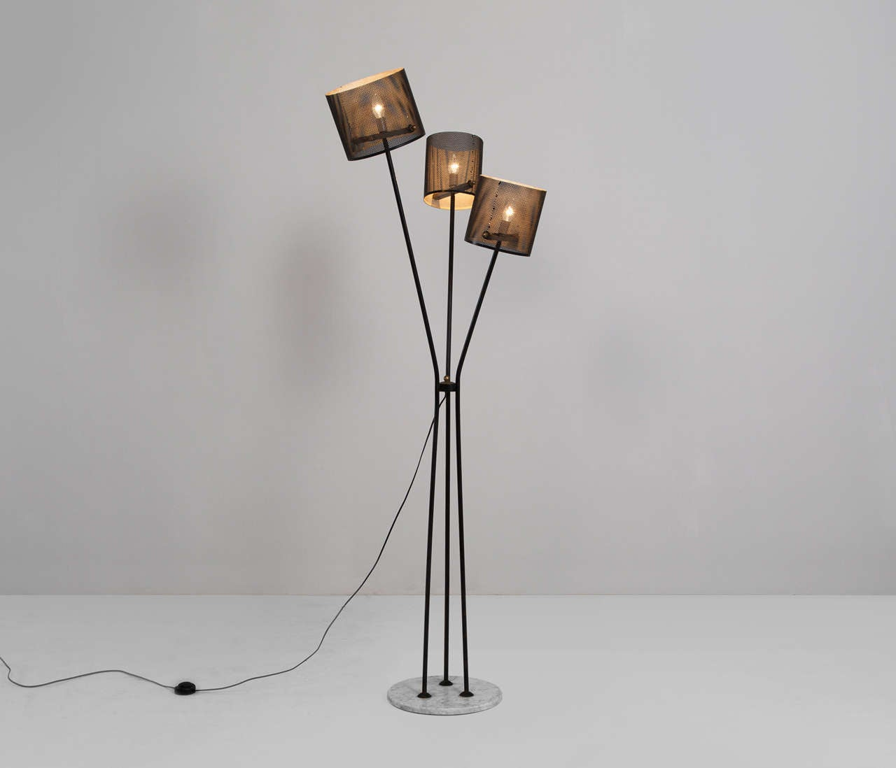 large italian floor lamp with marble base for sale at 1stdibs