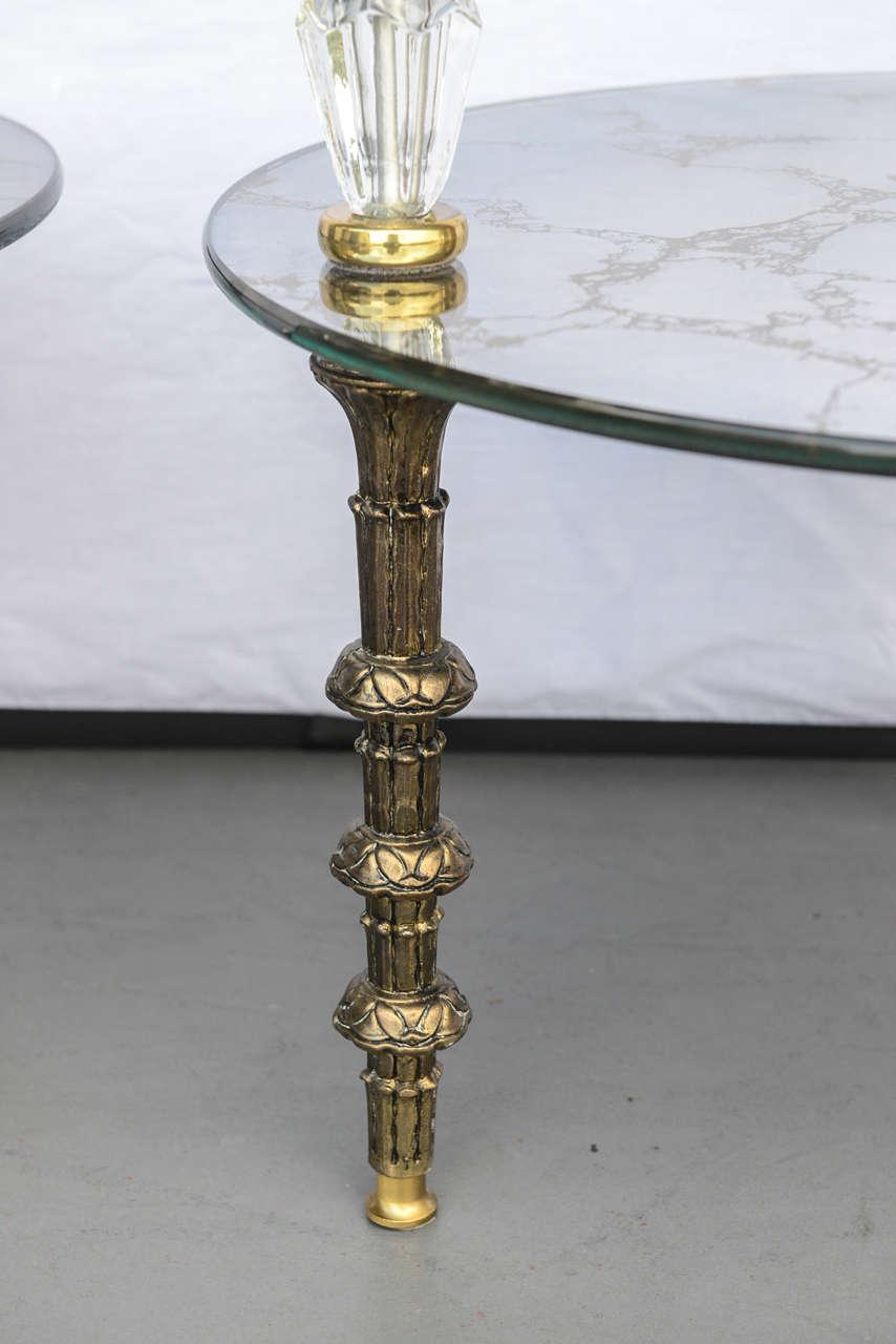 Hollywood Regency, Goran Belgium Glass End Tables For Sale 2