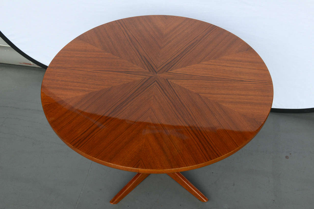 Søren Georg Jensen Round Coffee Table, Model 72 Ø 80 for Kubus 3