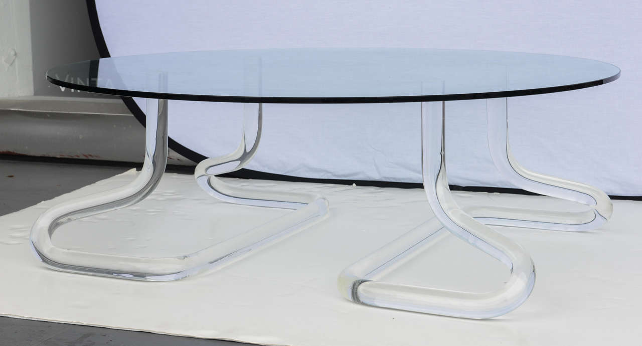 Jeff Messerschmidt 1972, 2000 Series Pipeline Lucite Coffee Table 2