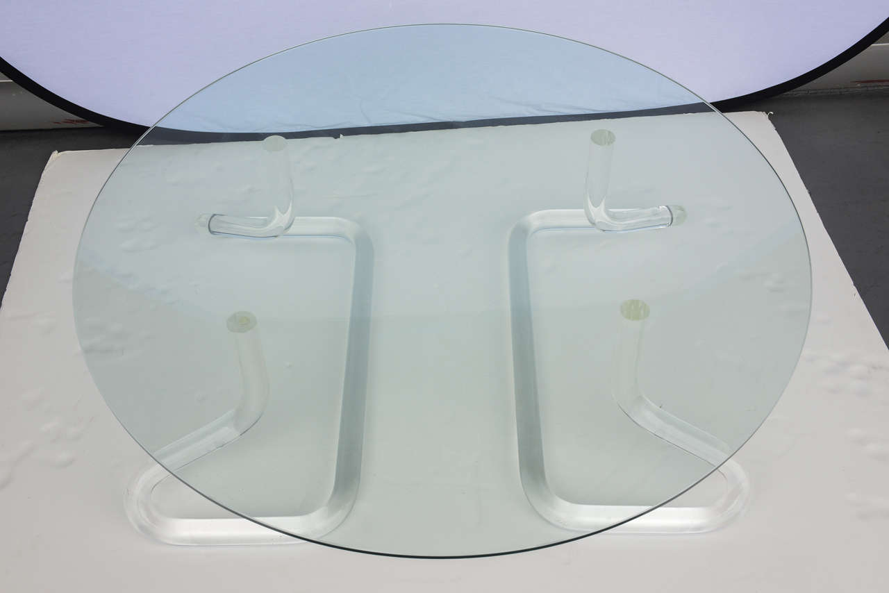Jeff Messerschmidt 1972, 2000 Series Pipeline Lucite Coffee Table 4
