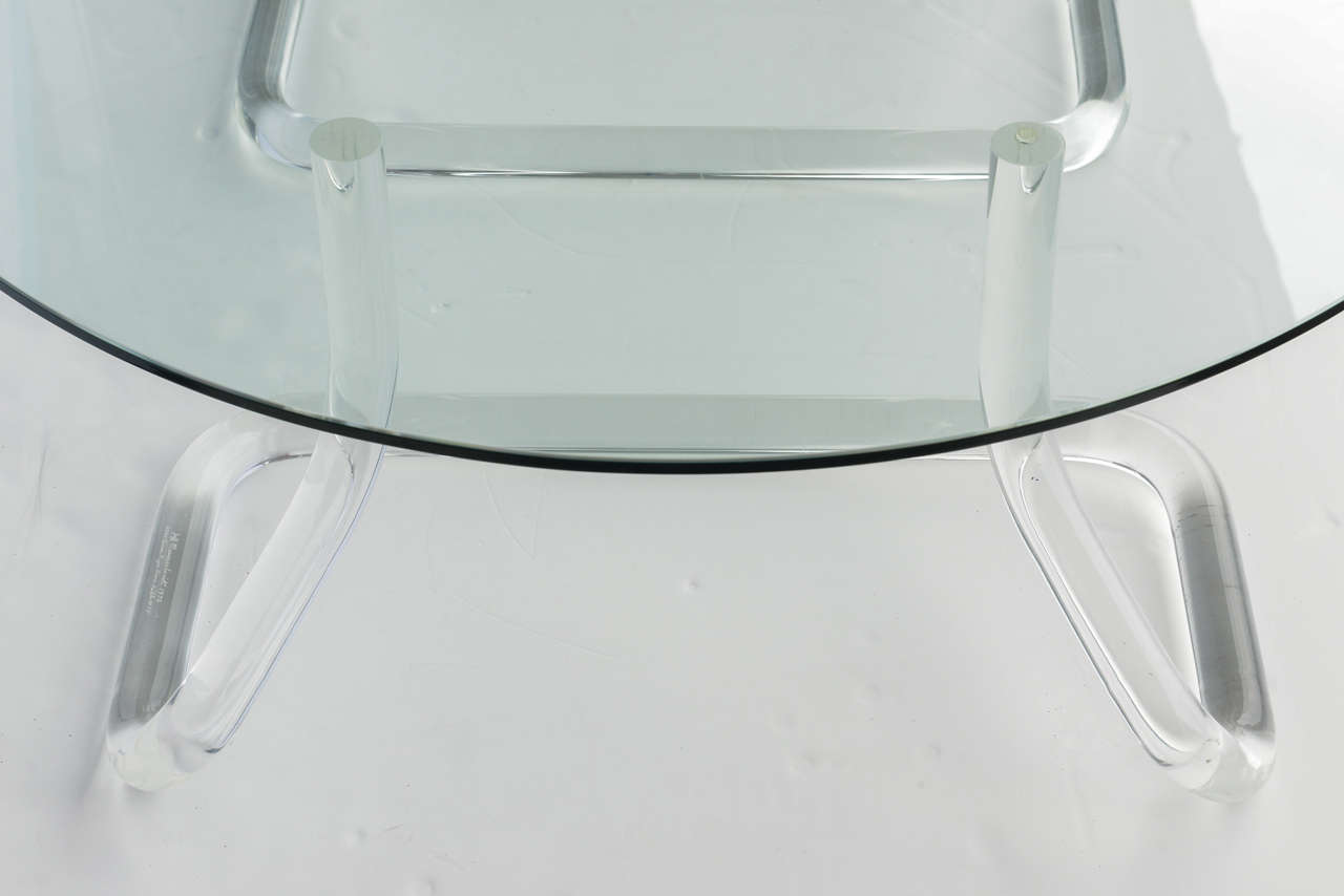 Jeff Messerschmidt 1972, 2000 Series Pipeline Lucite Coffee Table 8