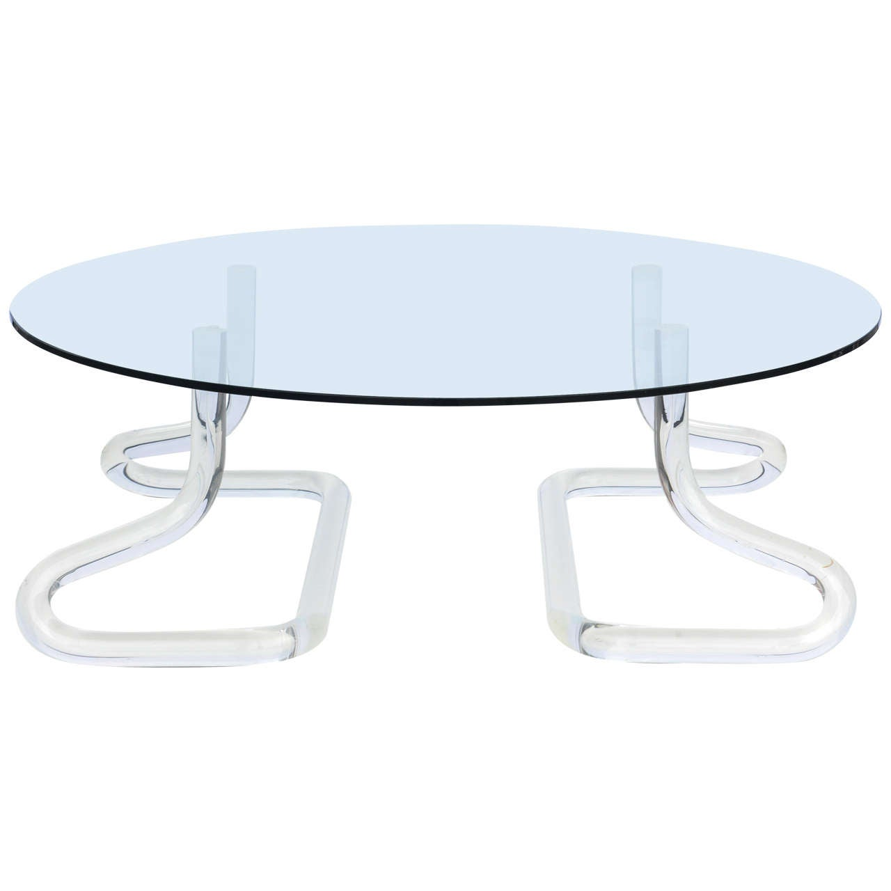 Jeff Messerschmidt 1972, 2000 Series Pipeline Lucite Coffee Table 1