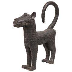 Bronze Leopard Sculpture by the Benin Tribe