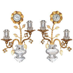 A Pair of Italian Gilt-Metal Sconces by Banci Firenze