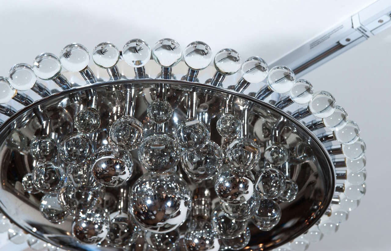 Glass Ball Flush Mount From Italy At 1stdibs