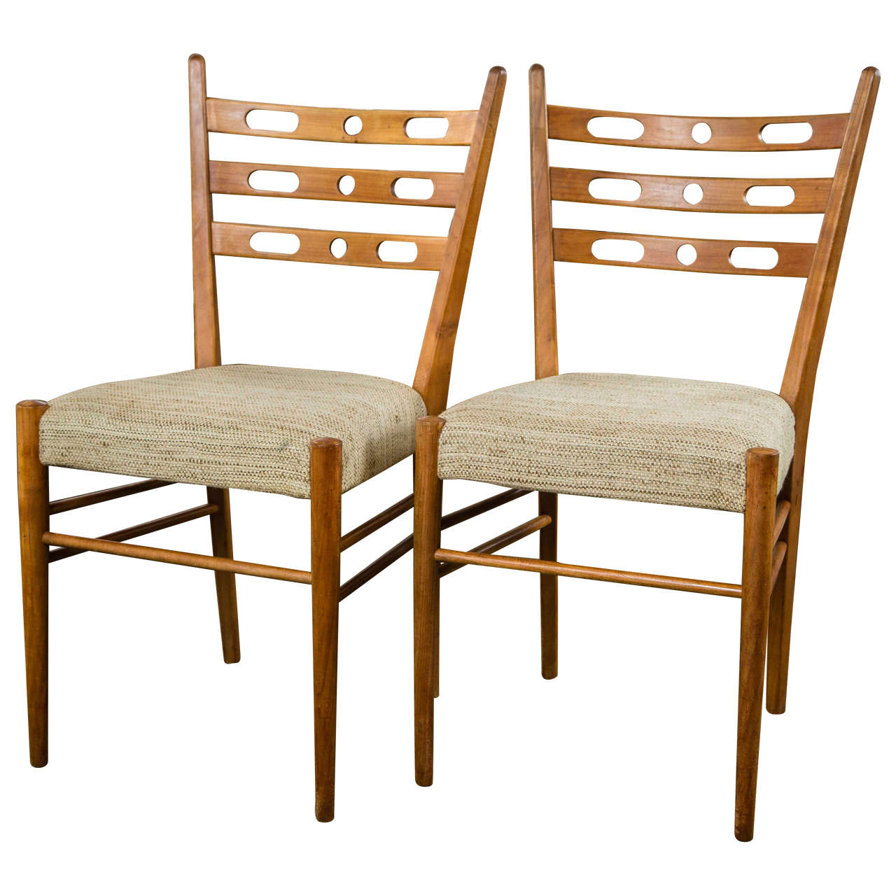 Set of Four Cherrywood Chairs