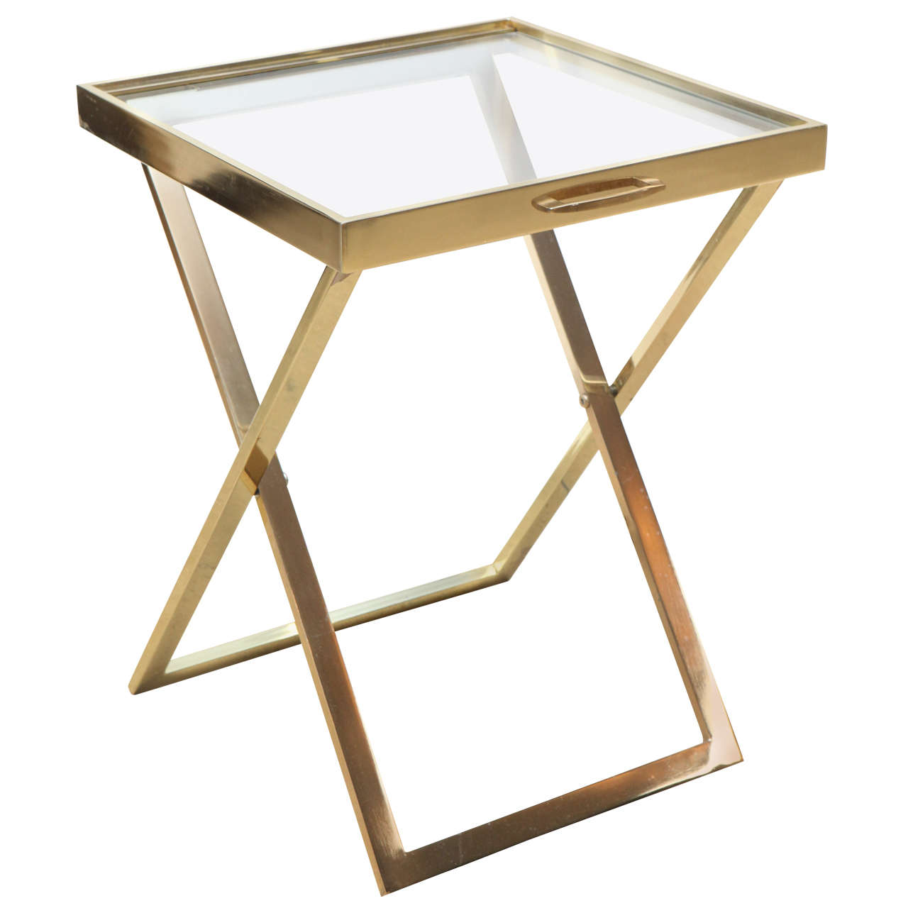 Brass Folding Tray Table At 1stdibs