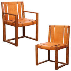 Two Custom Designed Side Chairs by T.H. Robsjohn-Gibbings