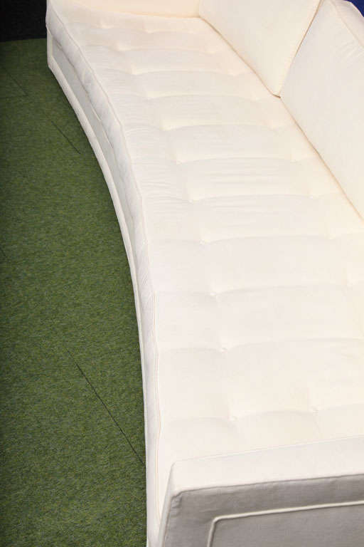 Contemporary Made-to-order Curved Sofa For Sale