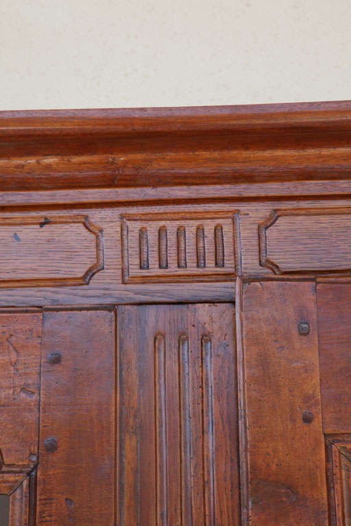 French Provincial Oak & Beechwood Cabinet For Sale 1
