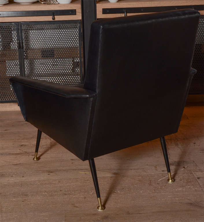 Mid-20th Century Pair of 1960's italian club chairs For Sale