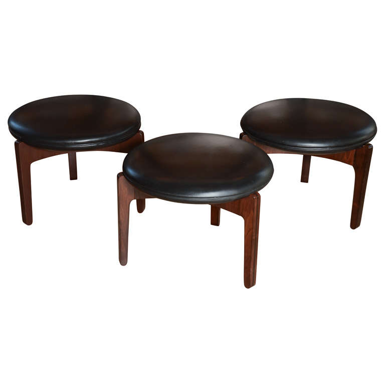 Set Of Three Mid Century Stools By Sven Ellekaer At 1stdibs