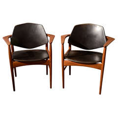 Pair of Ib Kofod Larsen 1950's chairs