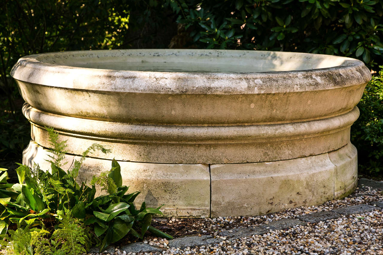 Fountain Bowl in Carved Limestone 5