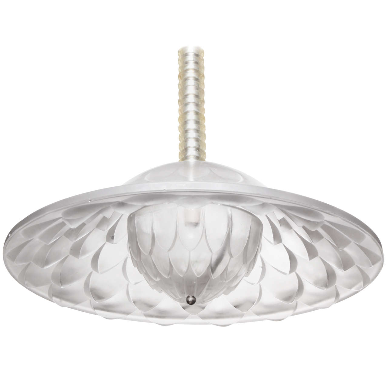 "R. Lalique ""Verone"" Chandelier For Sale"