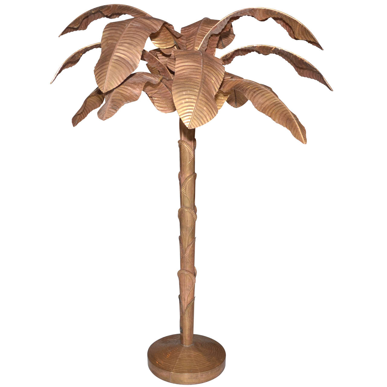 S brass and copper palm tree at stdibs