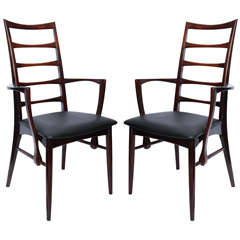Pair of 1950s Danish Rosewood Side Chairs by Niels Kofoeds