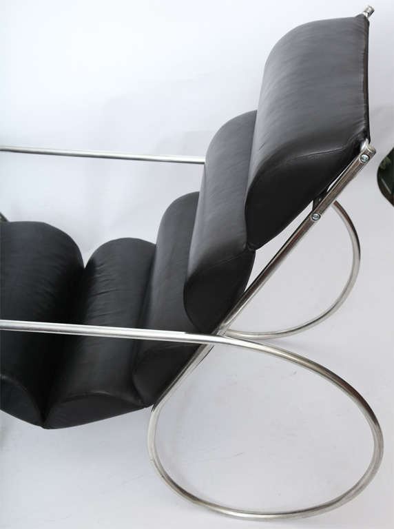 Mid-20th Century American Modernist Lounge Chair and Ottoman For Sale