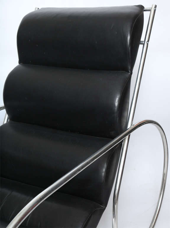 American Modernist Lounge Chair and Ottoman For Sale 1