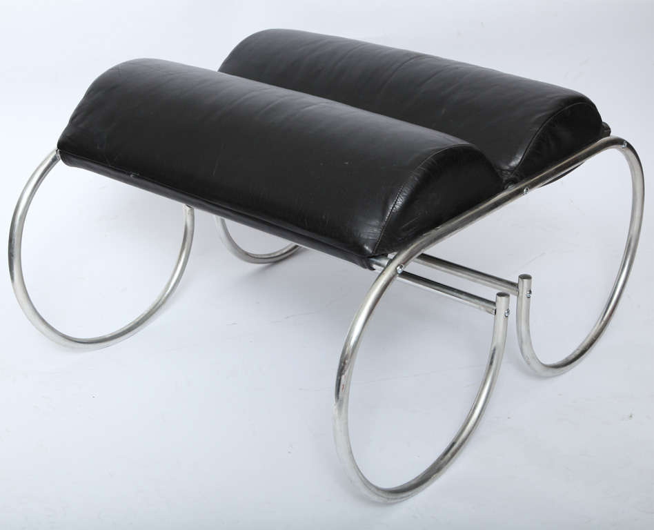 American Modernist Lounge Chair and Ottoman For Sale 4