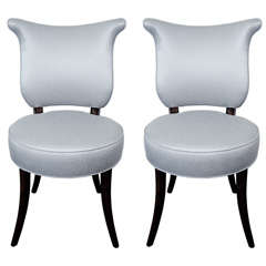 Pair of Shield Back Occasional Chairs by Grosfeld House