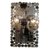 Mirror in gold murano glass .