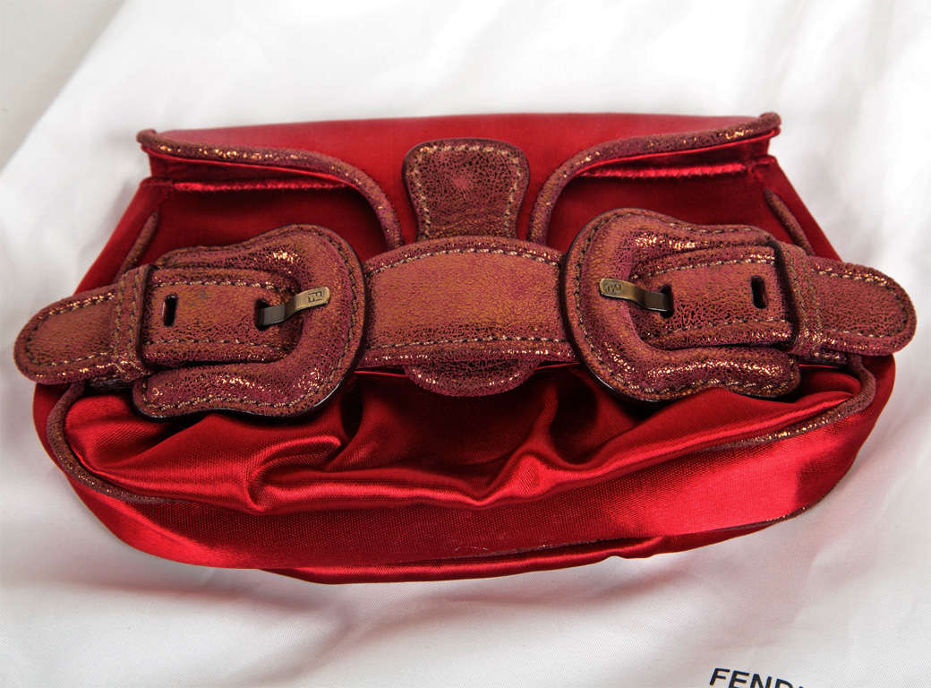 Fendi Red Satin Clutch or Handbag* presented by funkyfinders 8