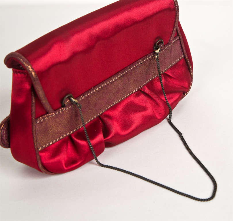 Fendi Red Satin Clutch or Handbag* presented by funkyfinders 4