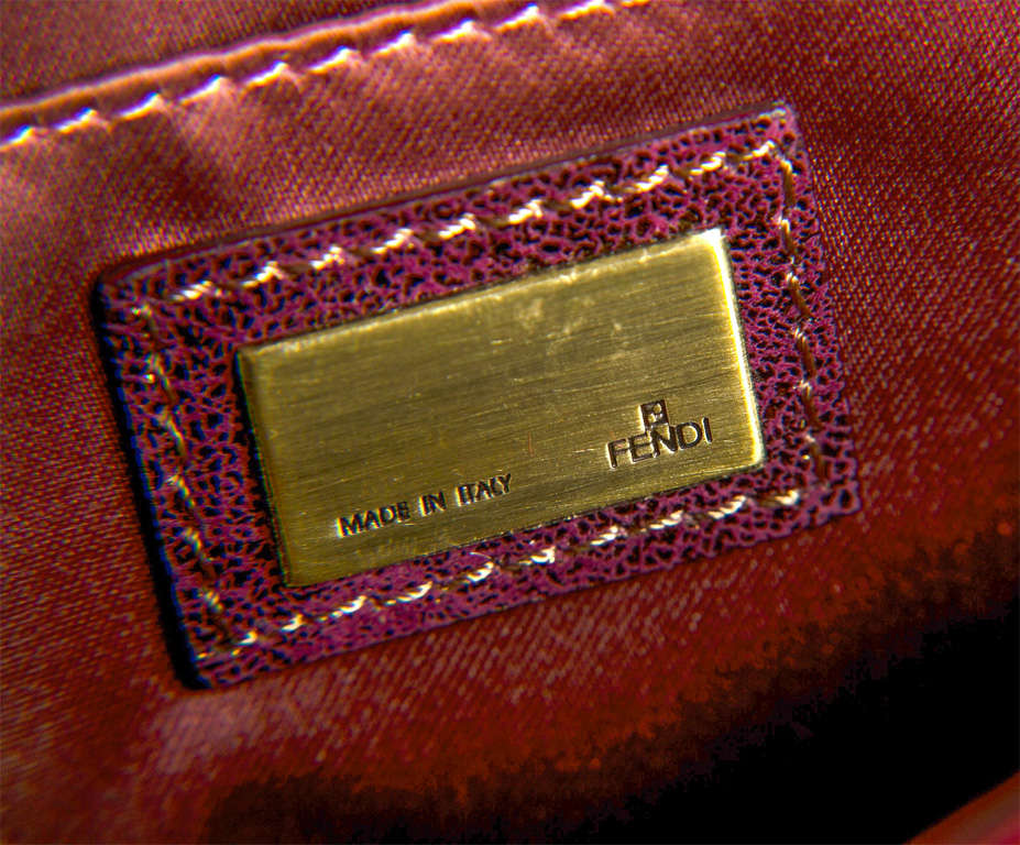 Fendi Red Satin Clutch or Handbag* presented by funkyfinders 6