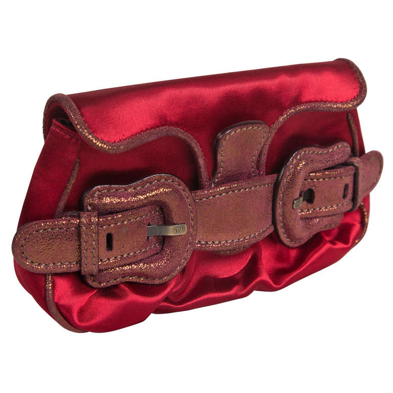 Fendi Red Satin Clutch or Handbag* presented by funkyfinders 1