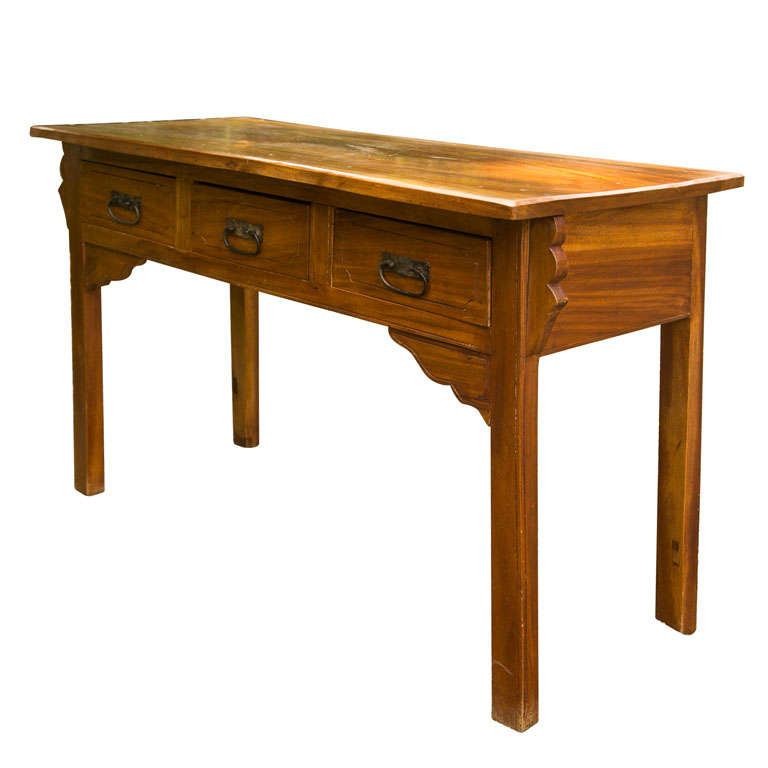 Rustic Style Solid Wood Console Table