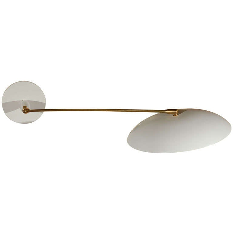 French 1960s Swing Arm Sconce