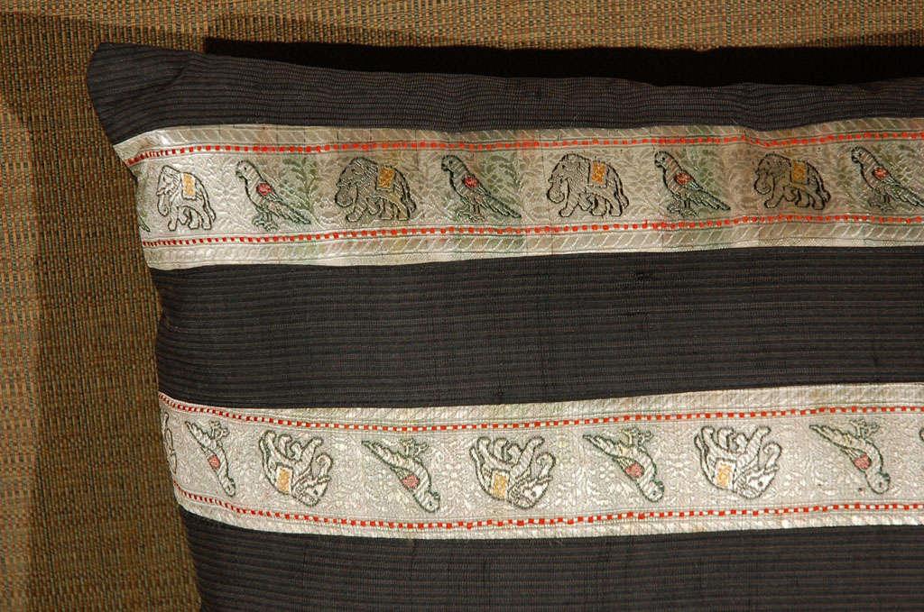 20th Century Silk Ribbon Pillow