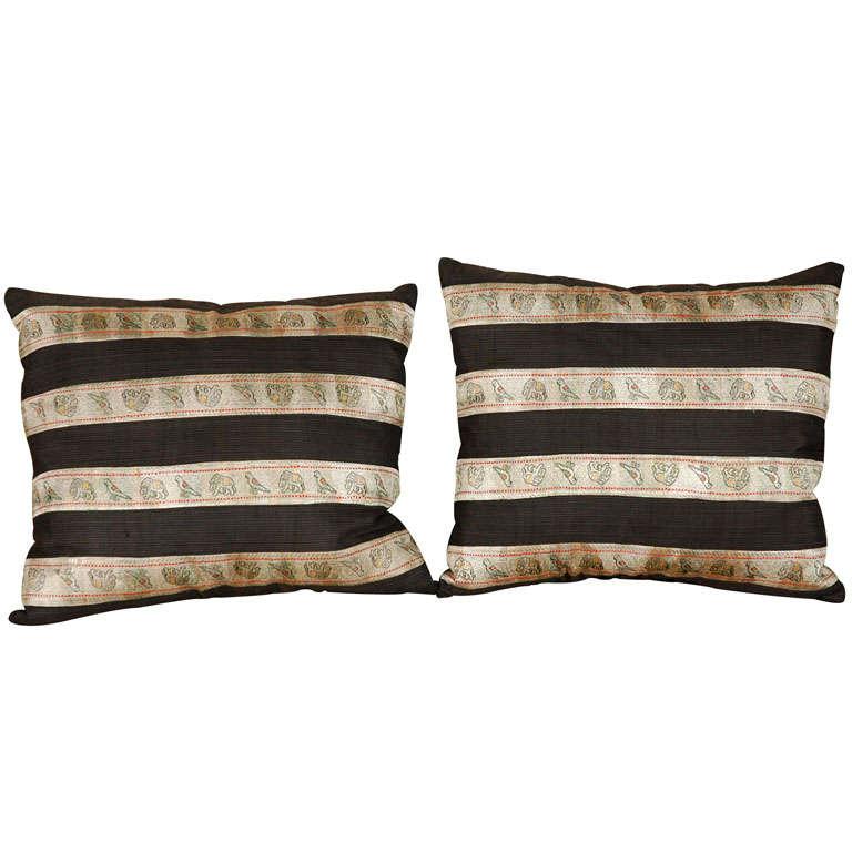 Silk Ribbon Pillow