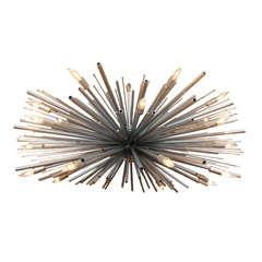 "Custom ""Supernova"" Chandelier by Lou Blass, with 24-Lights"