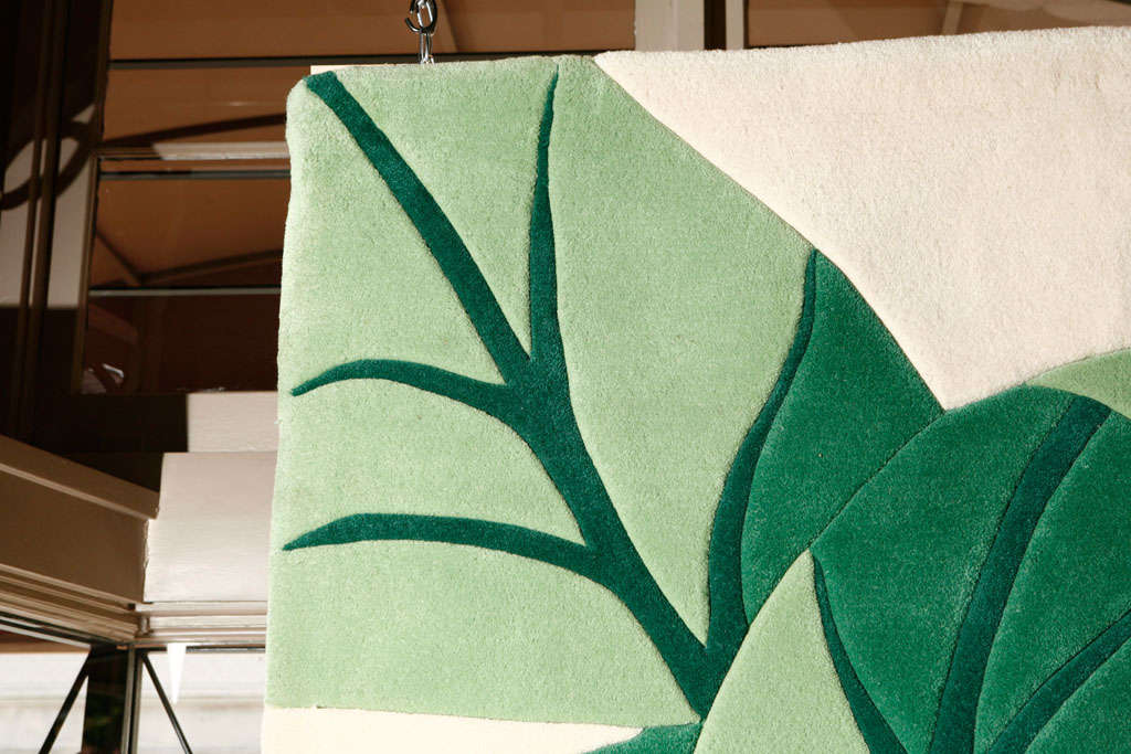 Vintage Stark Carpet Tropical Print Area Rug At 1stdibs