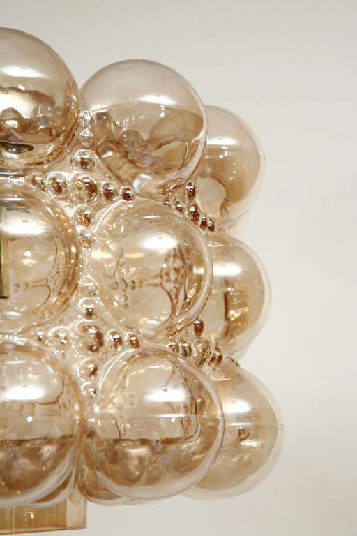 20th Century Limburg Bubble Glass Pendant
