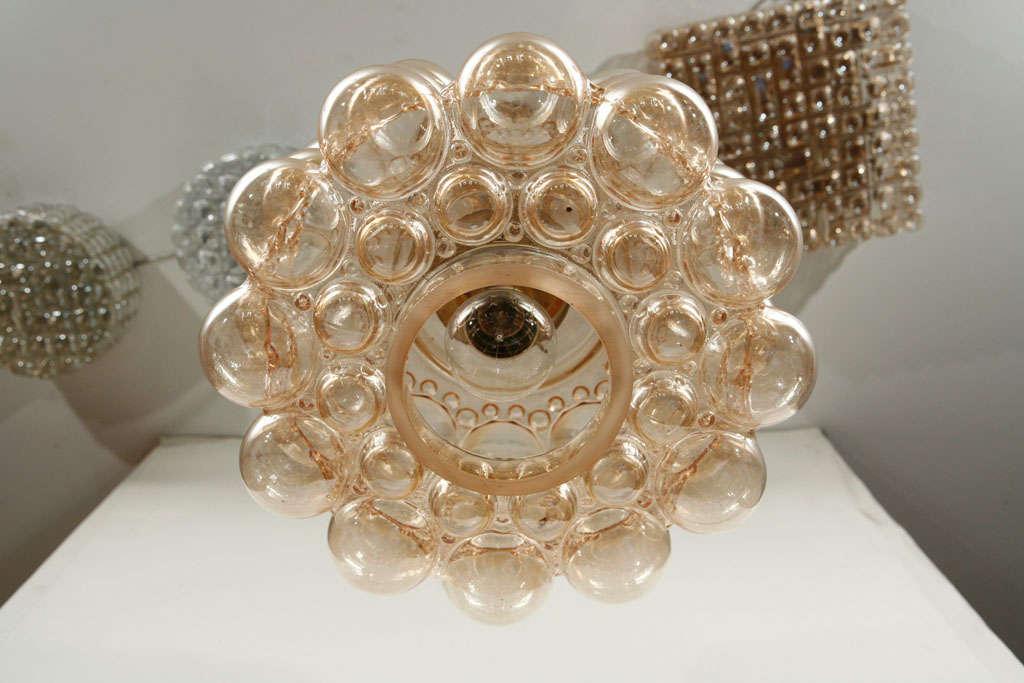 Brass Limburg Bubble Glass Pendant