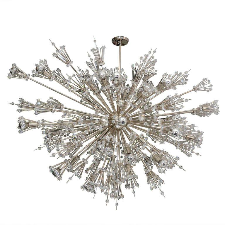 Custom Starburst Crystal Sputnik Chandelier