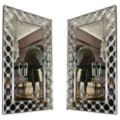 Pair of Mirrors in Murano Glass