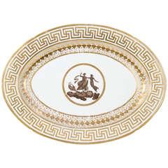 A Large Coalport Neoclassical Platter with Greek Key Border