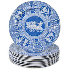"Antique Blue and White Dishes ""Greekware"""