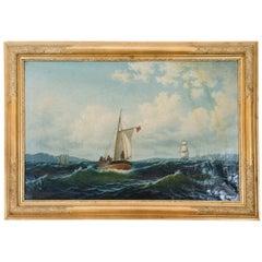 """Nordic Seascape,"" Painting, circa 1840"