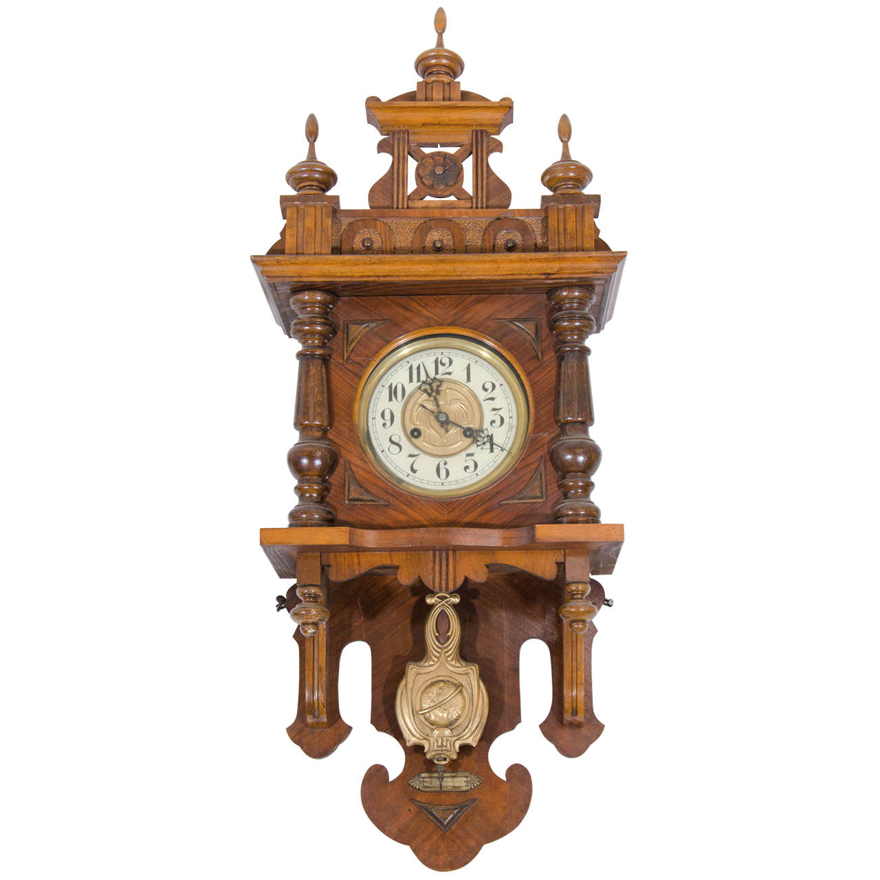 Renaissance Revival Chiming Wall Clock at 1stdibs